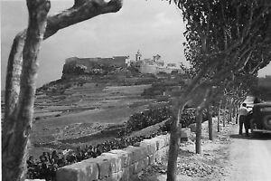 Rabat Malta (a view towards) World War 2 photograph
