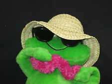 HAWAIIAN VACATION COOL FROG STRAW HAT SWIM SHORT FLIP FLOPS GLASSES PLUSH TOY