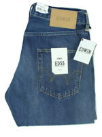 "EDWIN ED55 Denim Jeans Reg Tapered Rainbow Selvedge Mens W31""xL34"" KIYOSHI Wash"