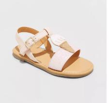 CAT & JACK Glinda Ice Cream Pink Blush Toddler Girls Sandals Size 10 - NEW