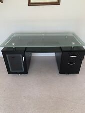 Glass Topped Desk & Office Chair