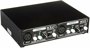 Rolls Two Channel Studio Pro Microphone Preamp - MP222