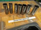 Craftsman 3/8 Drive Deep METRIC Sockets, 6pt, USA  9-19mm, You Choose Size