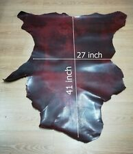 Goatskin Oily Leather Hide RED Hide Leather Premium German Goat Skin 7.50 Sq Ft.
