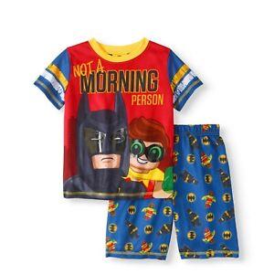 NWT LEGO Batman Boys' 'Not A Morning Person' 2 Piece Sleep Short Set