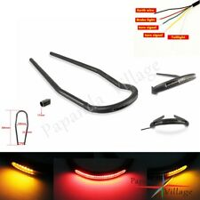 "7/8"" Rear Seat Hoop w/LED Brake Turn Signal Light Universal For Cafe Racer New"