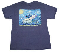 """MENS DISNEY LILO & STITCH """"SURFING"""" OFFICIALLY LICENSED GRAPHIC T SHIRT"""