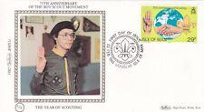 Isle of Man 1982 75th anniversary of Boy Scouts Benham Silk FDC Unadressed VGC