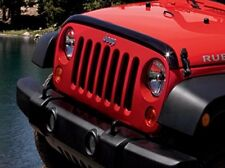 07-18 Jeep Wrangler New Front Air Deflector Tinted Jeep Logo Mopar Factory OEM