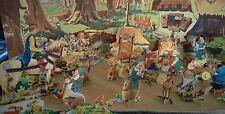 Rare vintage Snow White and the seven dwarfs cut out book by Deans 1938