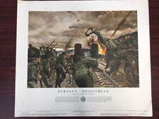 "Vintage 1954 WW2 US Army Remagen Bridgehead, 24"" x 21"" Poster"