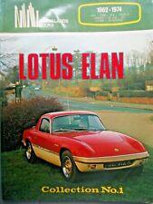 LOTUS ELAN COLLECTION No. 1, CLARKE, BROOKLANDS, NEW CAR BOOK, SCARCE