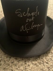 ALICE COOPER SCHOOLS OUT SIGNED AUTOGRAPHED BLACK TOP HAT JSA AUTHENTICATED