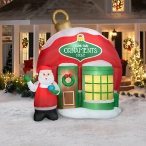 Gemmy 9.5' Airblown Inflatable Christmas North Pole Ornament Store Yard Decor