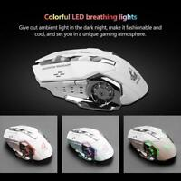 Rechargeable Wireless 2.4Ghz Silent LED USB Optical Ergonomic Gaming Mouse Mice