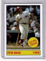 1990 SHANKS #8 PETE ROSE, FUTURE HALL OF FAMER, 27 YEAR-OLD BRODER CARD
