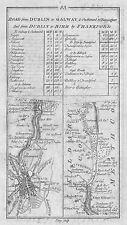 1778 Ireland Dublin Leixlip Kilcock Johnstown Bridge Edenberry Antique Road Map