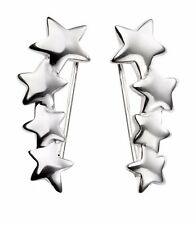 Silver Star Crawler Earrings with Giftpouch