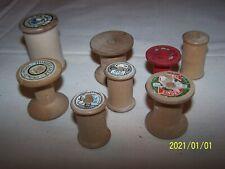 Lot de 8 bobines anciennes en bois vide. Epoque Art Déco. N°1