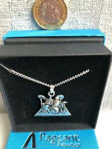 A DRUMKIT (DRUMMER) PEWTER PENDANT NECKLACE - MADE IN UK - NEW - GIFT