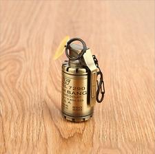 Full Bronze Novelty Jet Flame Flash Bang WindProof Refillable Cigarette Lighter