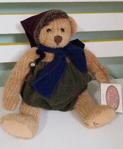 THE GANZ COTTAGE TEDDY BEAR  26CM TAGS! LORRAINE CHIEN! CC11197 BABY NOEL!