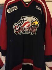 2002-2004 Ohl Chl Saginaw Spirit Marc-Andre Rizk Game Worn Hockey Jersey