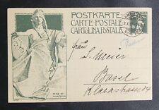 CPA DE SUISSE : 1909 INAUGURATION MONUMENT UPU - Obli. AMBULANT 1909 BON ETAT