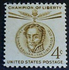 U.S. Scott 1110- Simon Bolivar, South American Liberator- MNH OG F-VF 4c 1958