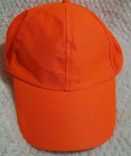 BLAZE ORANGE Hat Hunting Cap Safety Cap