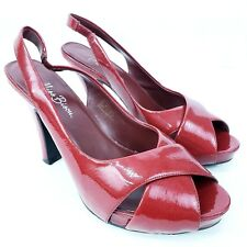 4903a311fb1a Miss Bisou Women s Heels Size 9.5M Open Toe 022-5052 Red Patent Leather