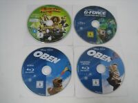 3 bluray + 1 dvd kids family lot g-force, madagascar 2, up + extras region 2 B