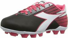 Diadora Ladro MD Jr Little Kid Black/White/Pink Soccer Shoe 13.5 M NW/OB