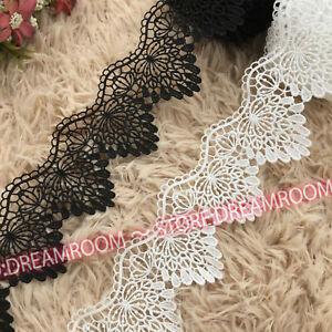 1Yd Crochet Lace Trim Ribbon Wedding Applique Dress Sewing Decor Crafts B296