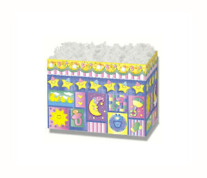 """Sweet Dreams Baby Themed Gift Basket Boxes 6-3/4"""" x 4"""" x 5"""" Package of 6 - New"""