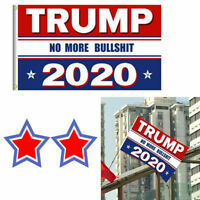 Trump 2020 Re-Election Flag 3x5 No More BS US Keep America Great President USA R