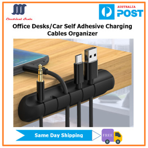 Self-Adhesive Phone Charging Cable Organizer Fixer Holder For Office Desktop Car