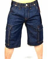 True Religion Brand Jeans Men's Deep Indigo Denim Cargo Shorts - 102023