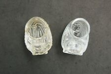Glass Bird Feeder Watering Cup Lot 2 for Cage Vintage Usa Pet Parakeet Finch Vtg