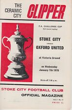STOKE CITY v OXFORD UNITED ~ FA CUP 3RD ROUND REPLAY ~ 7 JANUARY 1970