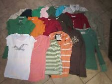 Size S ABERCROMBIE/Hollister/other lot (20)School SS/LS Shirts....GREAT DEAL!!!!