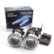 Safege 2X H3 halogen universal halo Projector Fog Light Lens kit CCFL angel eyes