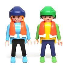 Playmobil Figure Custom White Water Rafters w/ Life Vests Helmets 3776