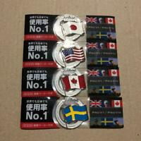 Titleist Original National Flag Golf Ball Marker 4 kinds Japan USA Canada Sweden