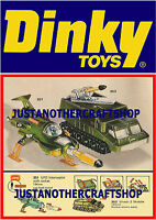 Dinky Toys 351 353 UFO Interceptor Shado A3 Size Poster Advert Leaflet Sign