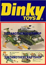 Dinky Toys 351 353 UFO Interceptor Shado Large Size Poster Advert Leaflet Sign