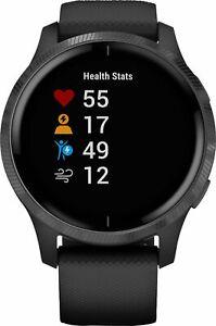 Garmin Venu Smartwatch 43mm Fiber-Reinforced Polymer Silicone Band Black - READ