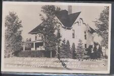 REAL PHOTO Postcard MENTOR Ohio/OH Brentwood Tourist Home Bed & Breakfast 1940's