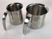 """Stainless Steel KRUPS Coffee Espresso Milk Frothing Steamer Jug Cup Mug 18-8 4"""""""
