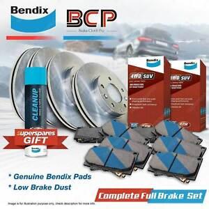 Front + Rear BCP Disc Brake Rotors Bendix 4WD Pads for Nissan Patrol GR GU 4.8L